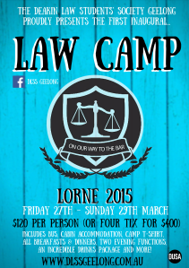 in 2015, the DLSS was proud to present the first inaugural Law Camp.
