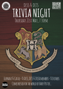 In conjunction with DETS, DLSS Geelong presents the Harry Potter Trivia Night!
