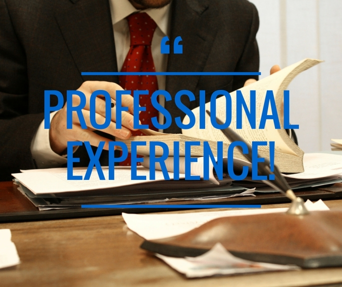 Professional experience Facebook Post